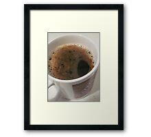 Delicious Caffeine Framed Print