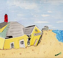 Sandy Damaged House by the Shore by Anne Gitto
