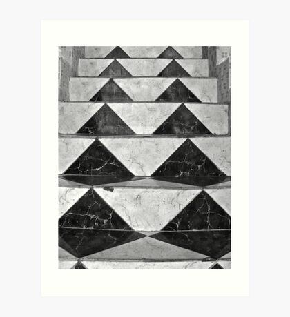 Lonely steps.... Art Print