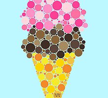 * ICE CREAM Berry/Chocolate  by pomomopo
