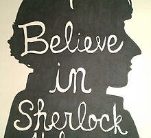 I Believe in Sherlock Holmes Silhouette by hannahelizanoel