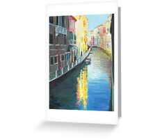 Venice Canal in Afternoon Sunshine Greeting Card