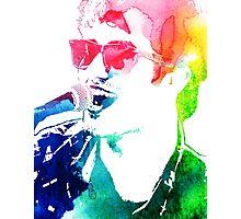 plaid shirt rainbow Photographic Print