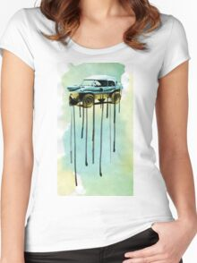 Duck out of water Women's Fitted Scoop T-Shirt