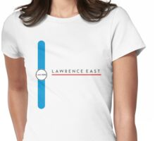 Lawrence East station Womens Fitted T-Shirt