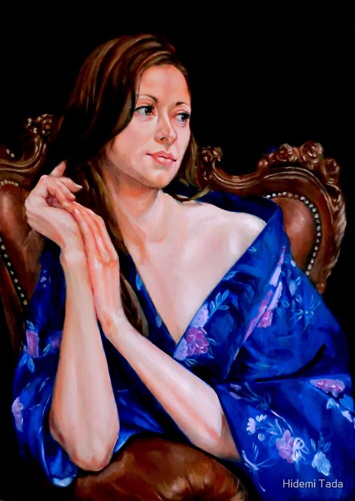 woman in yukata by Hidemi Tada