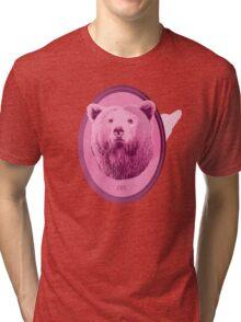 Hunting Series - The Pink Bear Head Tri-blend T-Shirt