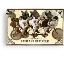 Steampunk Cyclists Canvas Print
