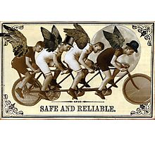 Steampunk Cyclists Photographic Print