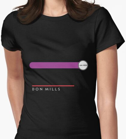 Don Mills station Womens Fitted T-Shirt