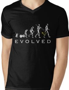 French Horn Evolution Mens V-Neck T-Shirt
