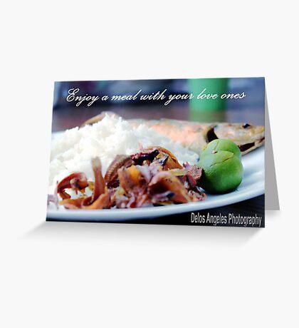 Enjoy a meal Greeting Card