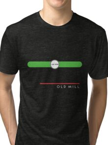 Old Mill station (west end, subsurface) Tri-blend T-Shirt
