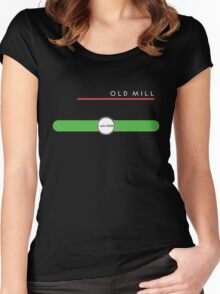 Old Mill station (east end, above ground) Women's Fitted Scoop T-Shirt