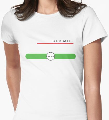 Old Mill station (east end, above ground) Womens Fitted T-Shirt