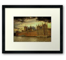 HDR of the Houses of Parliament, London Framed Print