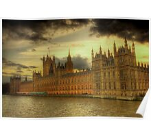 HDR of the Houses of Parliament, London Poster