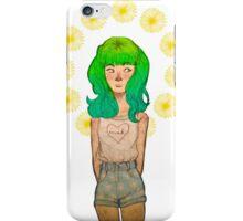 green haired girl iPhone Case/Skin