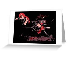 Lounge Act - Gothic Comic Style Art Greeting Card