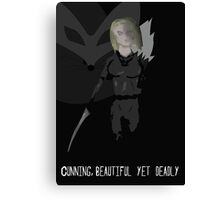Cunning, Beautiful yet Deadly Canvas Print