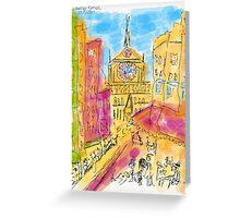 "Cathedrale Notre Dame De Paris. I Love Paris - J' Adore Paris . by Andrzej Goszcz , nickname "" Brown Sugar"".  Greeting Card"