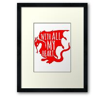 Merlin With All My Heart Dragon Framed Print