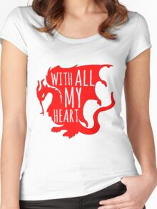 Merlin With All My Heart Dragon Women's Fitted Scoop T-Shirt