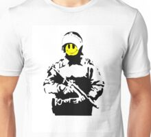 Smiley Face Policeman Unisex T-Shirt