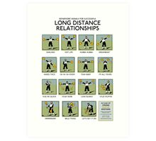 Long Distance Relationships poster - Successful Art Print
