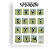 Long Distance Relationships poster - Successful Canvas Print