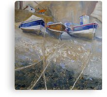 Fishing Boats in Staithes Beck Canvas Print