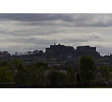 The splendor of Edinburgh Castle, located on a height overlooking all of Edinburgh Photographic Print