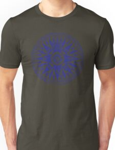 Nautical Compass   Navy Blue and White Unisex T-Shirt