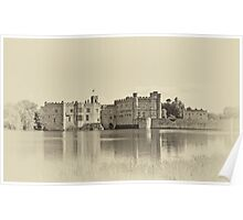 Leeds Castle Antiqued Poster