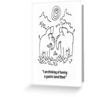 Elephants dilema. Greeting Card