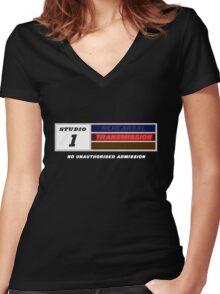 Studio 1 - Transmission Women's Fitted V-Neck T-Shirt
