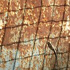 Lizard on Rusted Metal 1 by jojobob