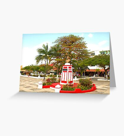 The bust of Benito Juarez Greeting Card