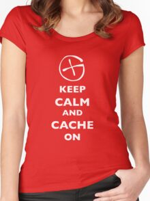 KEEP CALM and CACHE ON 1 Women's Fitted Scoop T-Shirt
