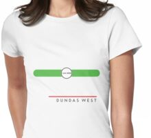 Dundas West station Womens Fitted T-Shirt