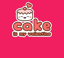 Cake is my Valentine Womens Fitted T-Shirt