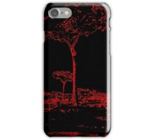 Black & Red Tree iPhone Case/Skin
