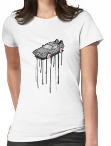 Delorean Drip Womens Fitted T-Shirt