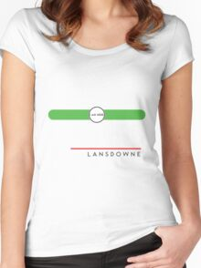 Lansdowne station Women's Fitted Scoop T-Shirt