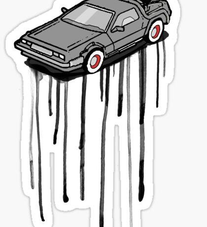 Delorean Drip Sticker