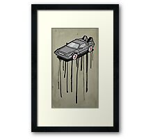 Delorean Drip Framed Print