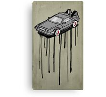 Delorean Drip Canvas Print