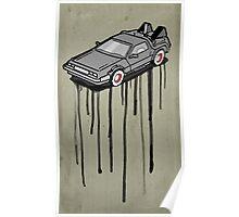 Delorean Drip Poster