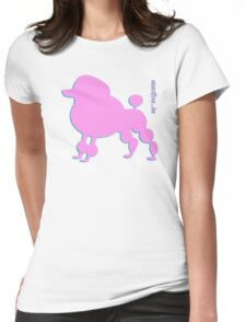 Poodle - Pudel - ... in pink Womens Fitted T-Shirt