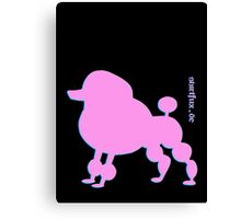 Poodle - Pudel - ... in pink Canvas Print